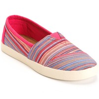 Toms Avalon Raspberry Stripe Woven