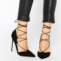 ASOS | ASOS PILOT Lace Up Pointed High Heels at ASOS