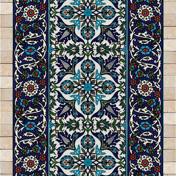Tiles and stone mosaic wall art decor, Traditional Islamic art, ready to hang 25/13 inch
