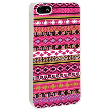 Pink Geometric Tribal for the Skinzy White iPhone 5/5S Case V3 by skinzy.com
