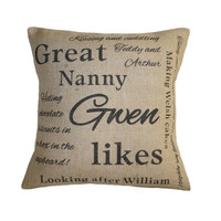 Personalised 'Likes' Cushion