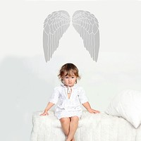 Metallic Angel Wings Vinyl Wall Decals