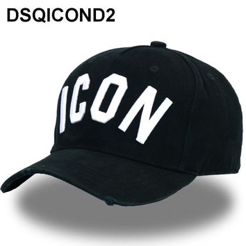 Trendy Winter Jacket DSQICOND2  Cotton Baseball Caps DSQ Letters High Quality Cap Men Women Customer Design ICON Logo Hat Black Cap Dad Hats AT_92_12