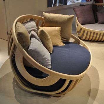 Unique chair of Slats Of Ash Wood by Luca Trazzi - Top Chair Design