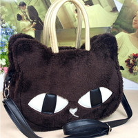 Fur Kitty Handbag with Detachable Strap