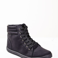 FAUX SUEDE HIGH TOP SNEAKER