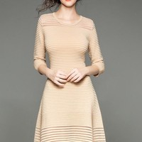 Fit and Flare Knit Dress