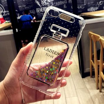 New Fashion Bling Liquid Quicksand Perfume bottles Case For iPhone 7 Luxury Glitter Phone Case for iPhone 6 6s 7 Plus Cover