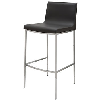 Roland Leather Counter Stool