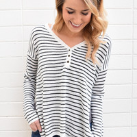 Glacier River Striped Henley