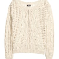 Pattern-knit Sweater - from H&M