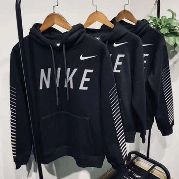 ESBHD2 Nike Hooded Fashion Black Pullover Top Sweatshirt Sweater