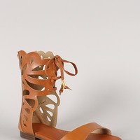 Open Toe Gladiator Flat Sandal