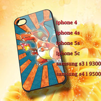 pokemon charizard fire Hard plastic and Rubber case iphone 4/4s,5/5s,5c,Samsung S3 i9300,S4 i9500