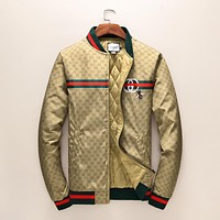 Gucci Women or Men Fashion Casual Pattern Print Cardigan Jacket Coat