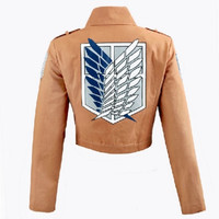 Cos cosplay Attack on Titan Shingeki no Kyojin Recon Corps jacket coat costume=1929866052