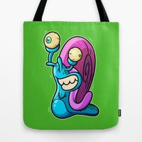 Aww Snail Tote Bag by Artistic Dyslexia | Society6