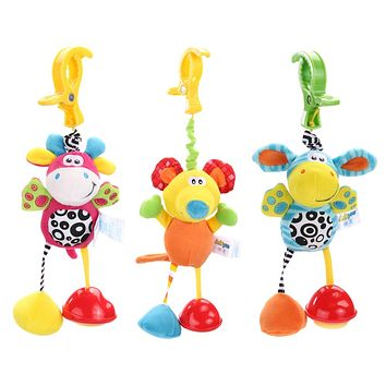 1 Pc New Christmas Gift Infant Baby Mobile Plush Toy Bed Wind Chimes Rattles Bell Toy Stroller Plush Doll for Newborn Babys