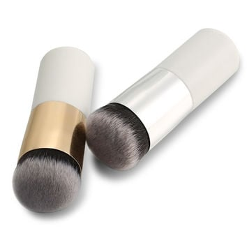 New 1PC Short Professional Foundation Makeup Face Blush Cream Powder Flat Top Portable Brush = 5987840513