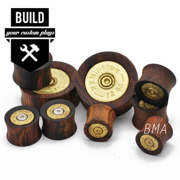 "Build Your Bullet Bangers Wood Plugs (00g-3"")"