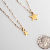 NEW! Mother Daughter Stars Necklace Set, Big sis, Lil Sis Necklace set, Gold Star Necklace, Tiny Star Necklace, Mother New Baby Gift