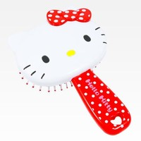 Hello Kitty Die-Cut Hairbrush: Red Dot