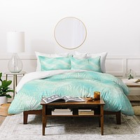 Aimee St Hill Pale Palm Duvet Cover
