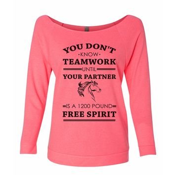 You Dont't Know Teamwork Until Your Partner Is A 1200 Pound Free Spirit