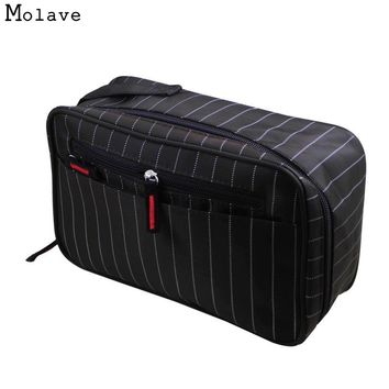 Naivety Cosmetic Bag New Men Waterproof Stripe Portable Seismic Toiletry Kits Storage Package Cosmetische zak 11S60921