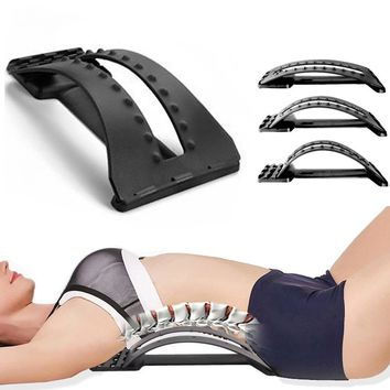 Multifunctional Back Stretcher Stretching Device Adjustable Massage Spine Posture Corrector Relaxation Apparatus Equipment