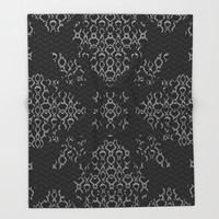 Python Lace Fantasy Throw Blanket by Octavia Soldani | Society6