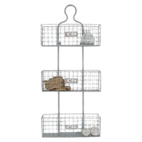 Metal Wall Basket -Silver