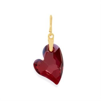 Red Magma Swarovski® Crystal Heart Charm