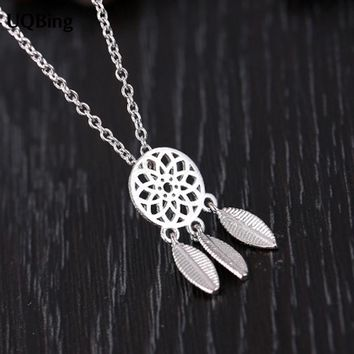 925 Sterling Silver Necklaces Dreamcatcher Feather Pendants