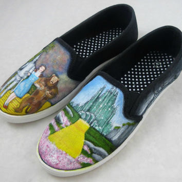 Custom Hand Painted Shoes - The Wizard of Oz