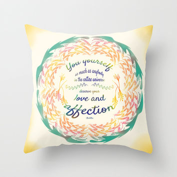 Buddha Quote Throw Pillow by famenxt