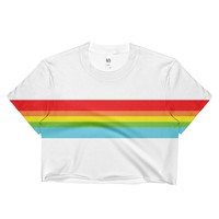 Rainbow Stripe Crop Top