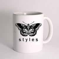 Harry Styles tattoo Butterfly One Direction for Mug Design
