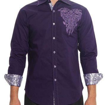 Western Tribal Cross Button Up Shirt SH439