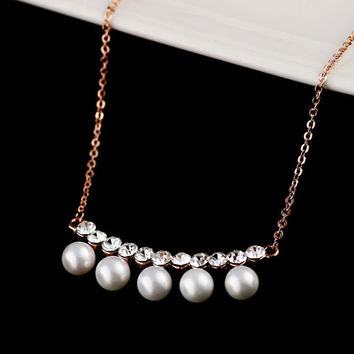 Bridal Pearl Necklace Jewelry Crystal Necklace Bridal Jewelry Crystal Statement Choker Necklace Bib Necklace Bridesmaid Necklace Jewelry