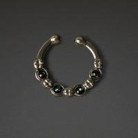 Stone Faux Septum Ring