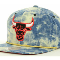 Chicago Bulls NBA Acid Wash Snapback Cap