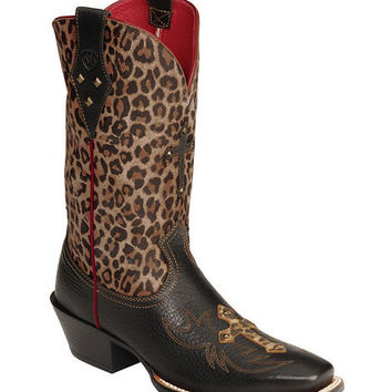 Ariat Legend Spirit Leopard Print Cowgirl Boots - Square Toe - Sheplers