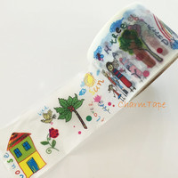 Big Washi tape 38mm- Happy Family & Birthday Party -10meters  WT741