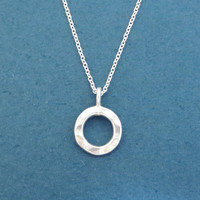 Sterling silver, Doughnut, Karma, Ring, Silver, Necklace, Simple, Modern, Minimal, Dainty, Friends, Lovers, Everyday, Gift, Jewelry