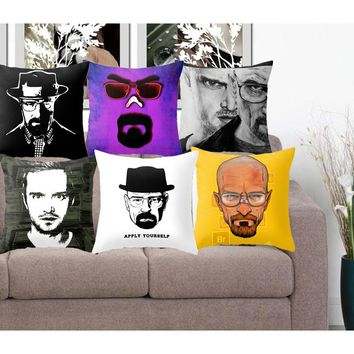 Polyester Cushion Cover Breaking Bad Pillowcase Home Decorative Euro Pillow Cover Sofa Chair Throw Pillow