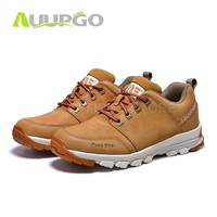 CA Men Waterproof Hiking Shoes Hiking Boots For Men Genuine Leather Hiking Shoes Breathable Mountain Walking Climbing Shoes Man