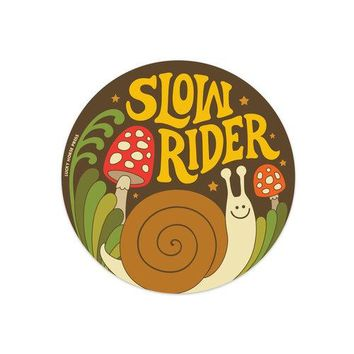 """Slow Rider"" Sticker"
