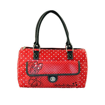 Disney Parks Minnie Mouse Dot Barrel Bag New with Tag