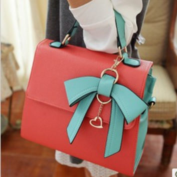 Korea dimensional bow handbag new